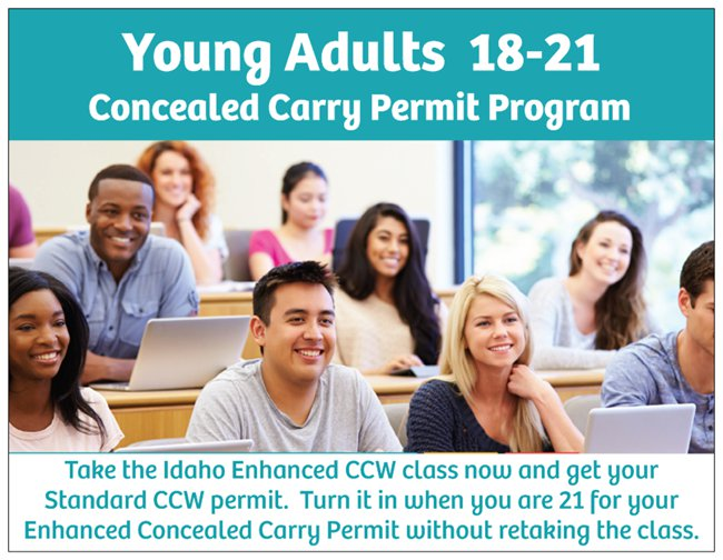 Idaho Enhanced CCW for 18-21 Adults