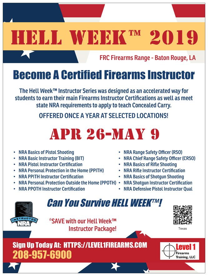 Louisiana Firearms Training | Level 1 Firearms Training